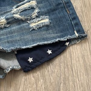 YMI Shorts - American flag blue jean shorts